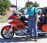 Wendy on Goldwing